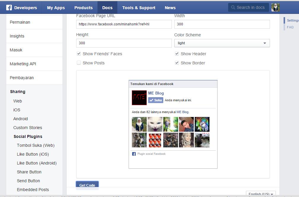 Cara Memasang Like Box/ Fans Page Facebook di Blog