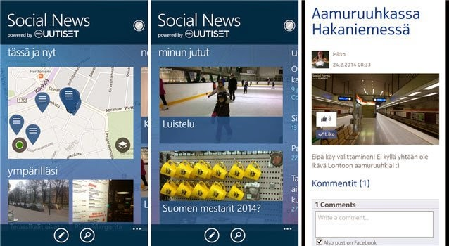 Social News App for Windows Phone by Microsoft- Be a Journalist