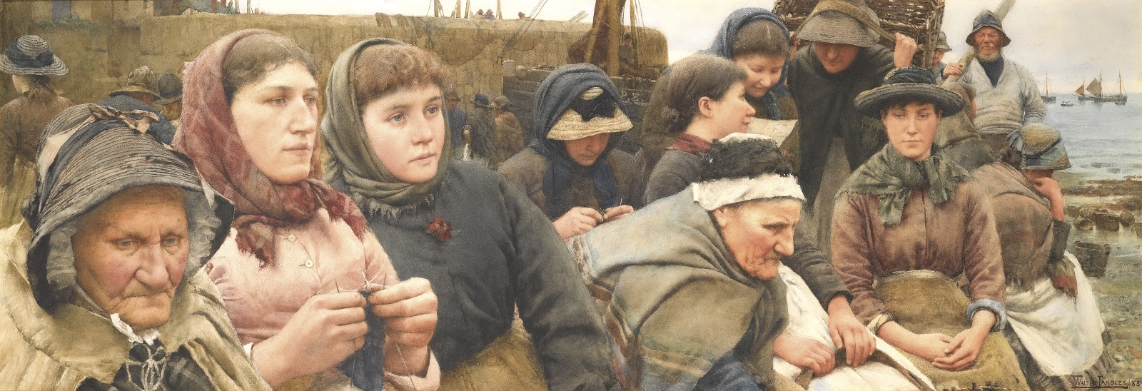 Walter Langley Waiting For The  oats