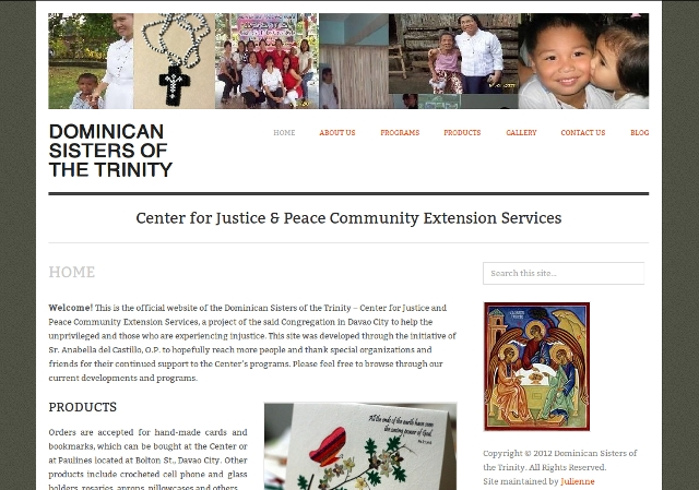 Dominican Sisters of the Trinity WebSite