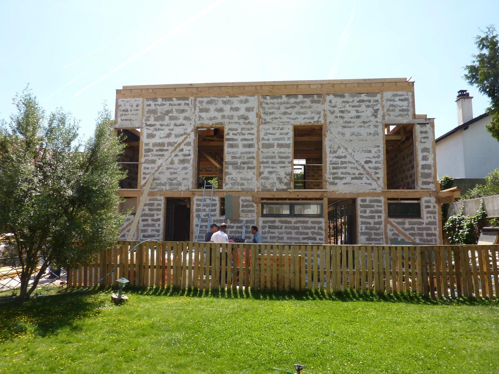 Maison bois chantier  Modern Architecture Group