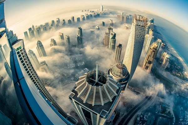 hình ảnh thành phố dubai từ trên cao