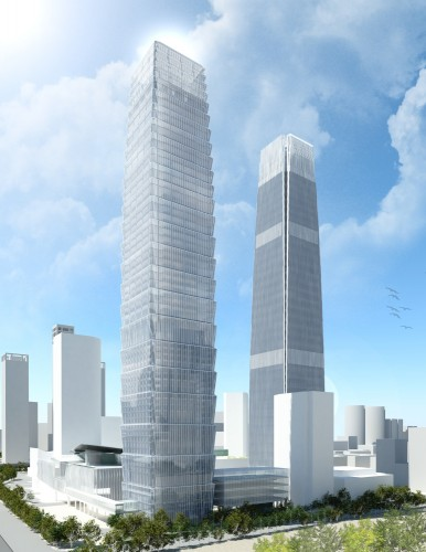 perspective of China World Trade Center by SOM in Beijing