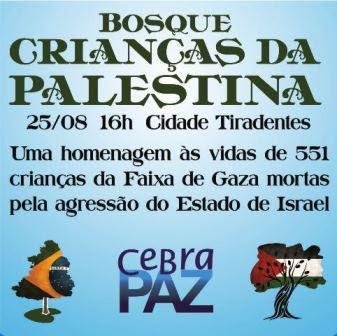 Plantio de 551 árvores em homenagem às crianças palestinas