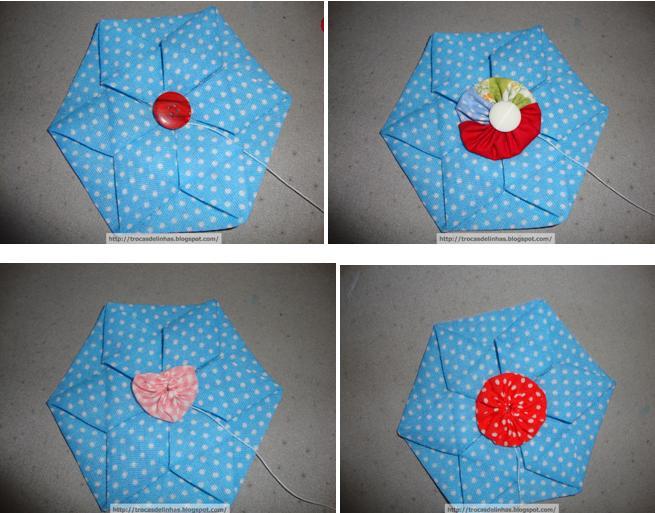 Tetraedro em origami passo a passo patchwork