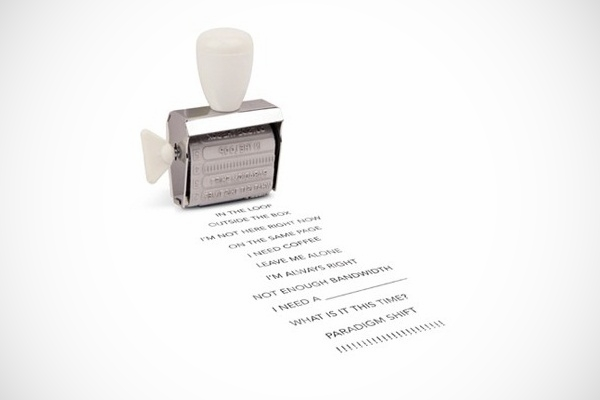 Funny Office Speak Rubber Stamp