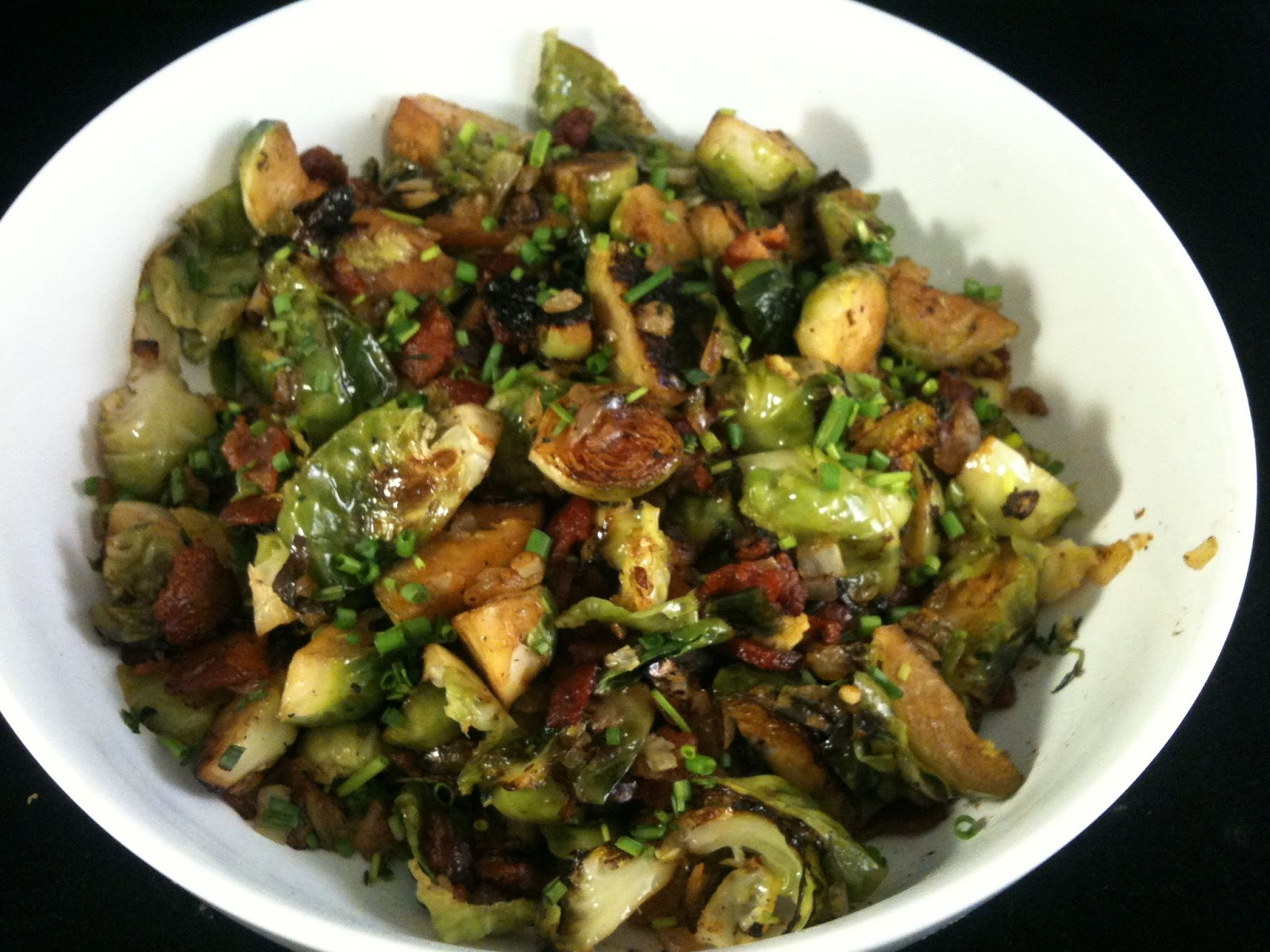 Chez Mona: Brussels Sprouts with Bacon and Herbs