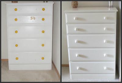 Thrift dresser before and after makeover