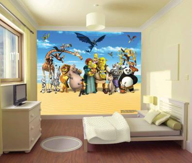 Decoraciones y mas coloridos murales gigantes para - Murales en habitaciones ...