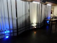 Iluminação de ambiente com canhões de led