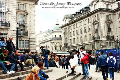 Travel Photos Marj Lago indulging the beauty of Piccadilly Circus London
