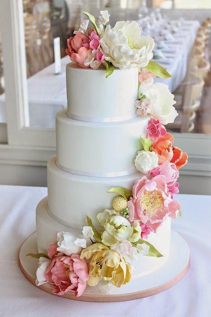 Matrimonio Tema Tropical : Decore sua mente seu corpo e espaço bolos florais