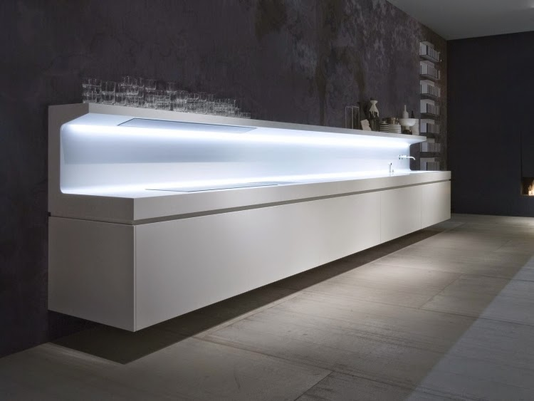New modern kitchen design ideas in white by Antoni Lupi