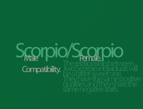 scorpios dating other scorpios Our guide to dating, love and sex in scorpio scorpio relationships need to calculate those other planet placements from their date of birth, and compare them.