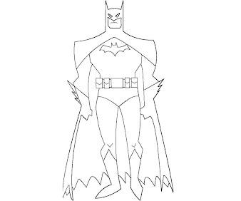 #3 Batman Coloring Page