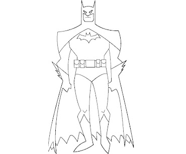 #3 Batman Coloring Page