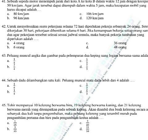 Bimbel Athifiyah Club Probolinggo Pin 5288dcf4 Hp 085258829547 Soal Uas Matematika Kelas 8 Smp