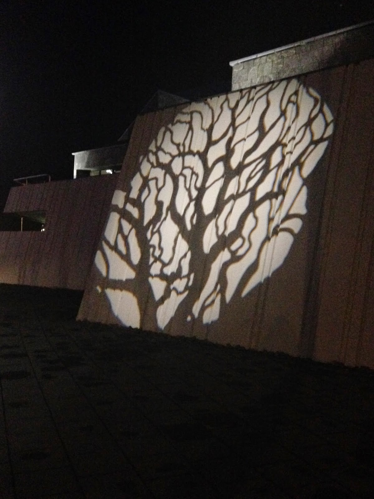 Cool projection on the streets