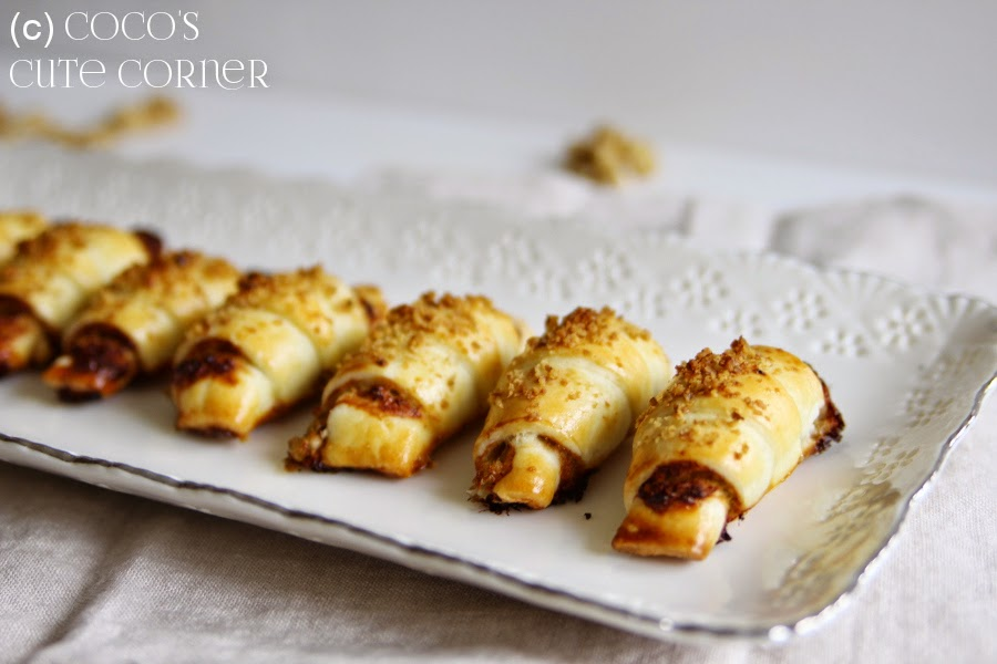 Croissants filled with Cheese and Pear