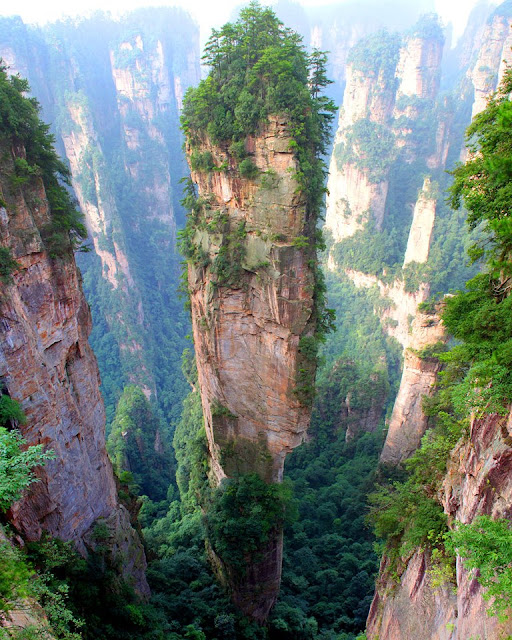 tianzi mountain, zhangjiajie, suoxi valley, son of heaven, needle
