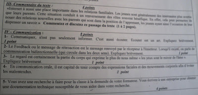 Examen de passage ofppt  TSP Communication juin 2009