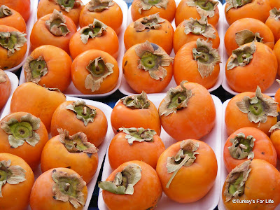 Persimmon or hurma on Calis market