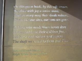Emerson's Concord Hymn Dublin Veterans Park