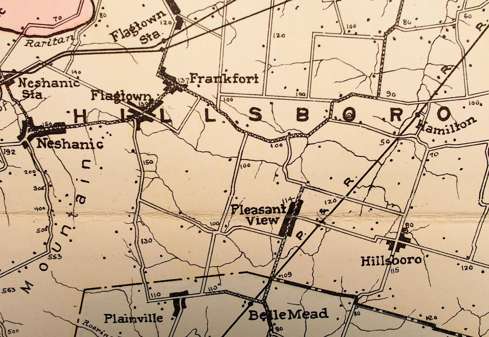 New jersey somerset county flagtown - Plainville Is Just A Short Carriage Ride From Belle Mead Station As Depicted On This Turn Of The Century Somerset County Map