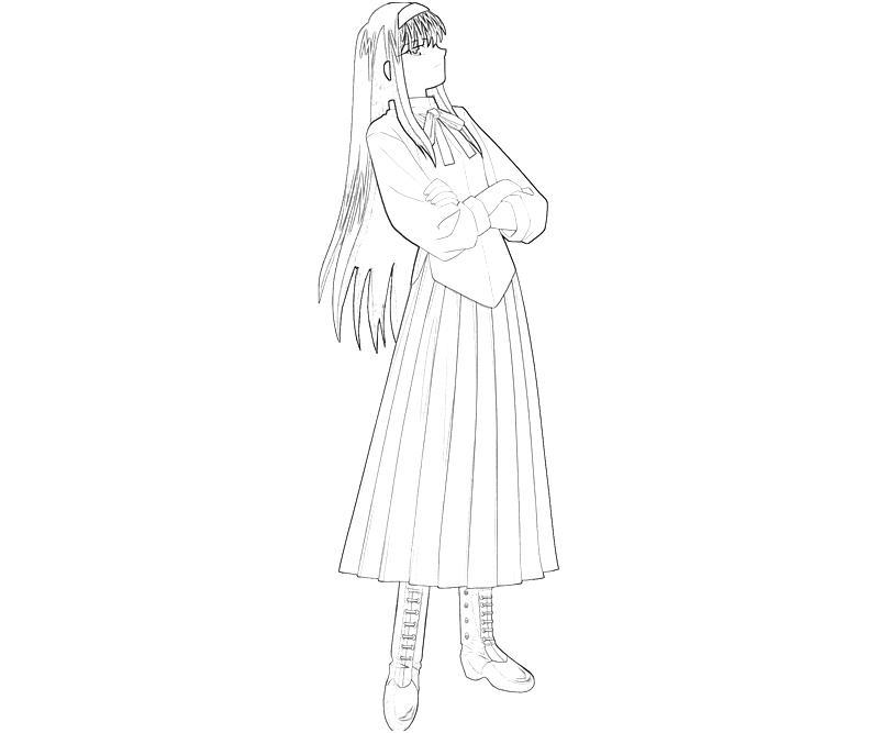 printable-akiha-tohno-look-coloring-pages