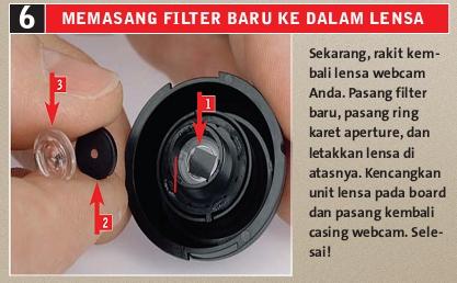 Memasang Filter Baru ke Cam