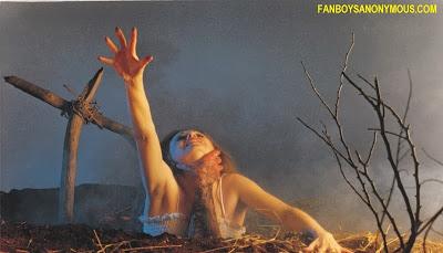 Evil Dead poster art buried alive