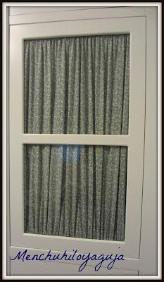 Patrones de costura visillos para muebles con velcro - Visillos para puertas ...