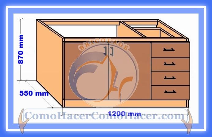 Muebles cocina plano mueble bajo web del bricolaje for Planos de muebles de madera pdf