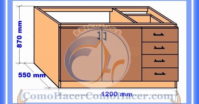 Muebles cocina plano mueble bajo web del bricolaje for Fabricar mueble de cocina