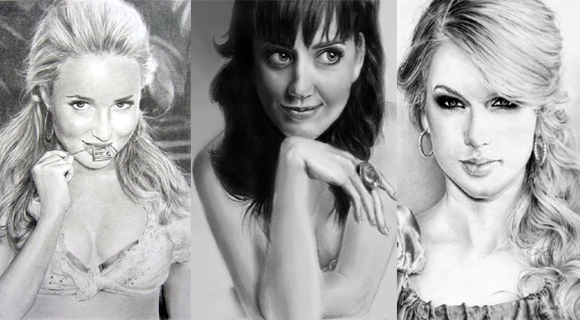 Beautiful Female Celebrity Drawings