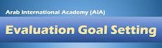 Portfolio Entries for Evaluation Goal Setting (AIA)