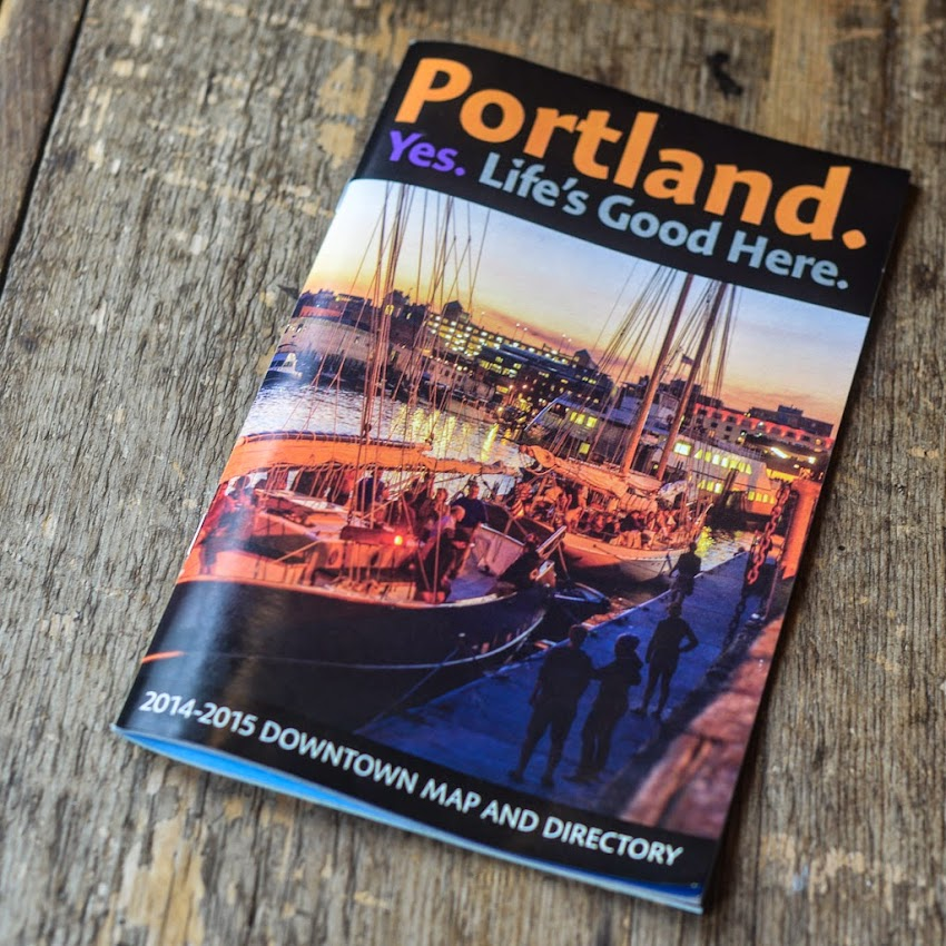 Portland, Maine Downtown District Guide Directory 2014 cover photo by Corey Templeton