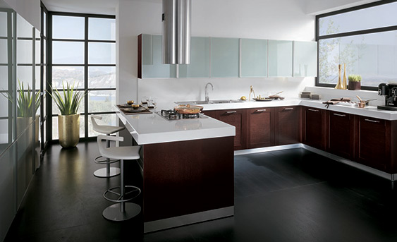 Top cocinas integrales color chocolate wallpapers - Ideas para decorar cocinas ...