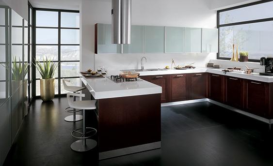 Cocinas integrales modernas color chocolate imagui for Cocinas funcionales y modernas