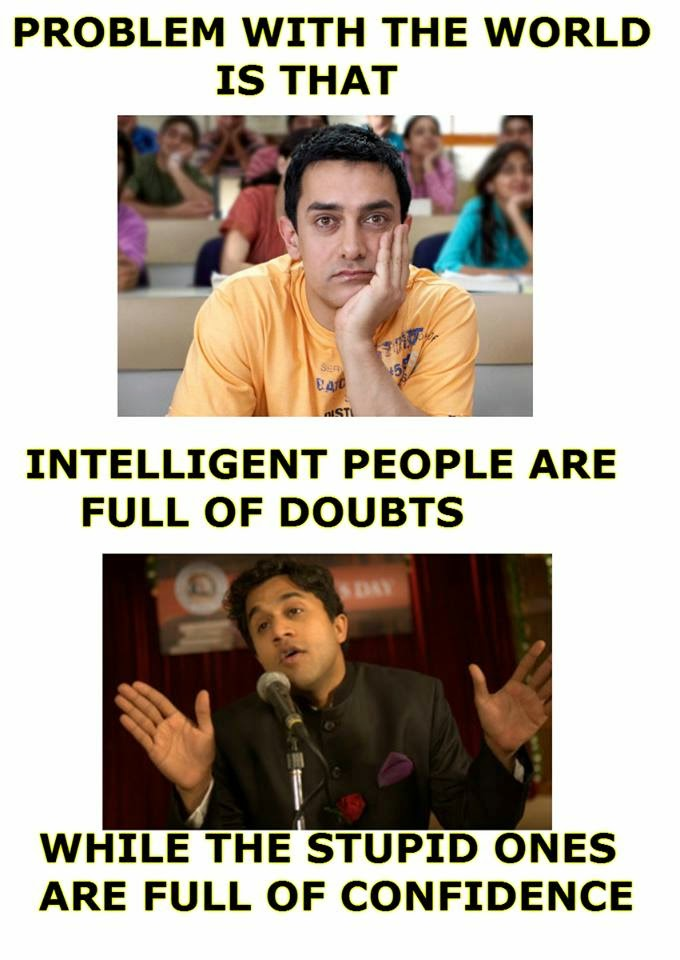 Wordless Wednesday : INTELLIGENT VS STUPID http://kanvaskehidupanku.blogspot.com/ adkdayah hindustan 3 idiot