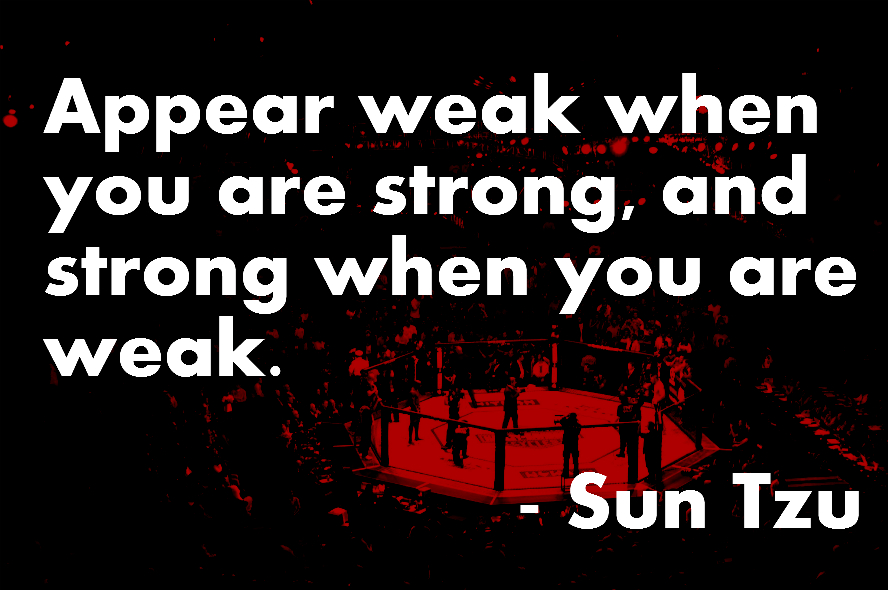 Sun Tzu on Appearing Strong and Weak