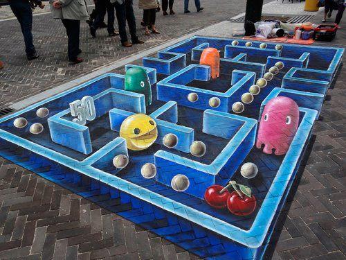 Pintura 3D: Pacman
