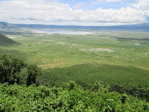 The Ngorongoro Crater: 3000 foot high and 12 miles across (Tanzania)