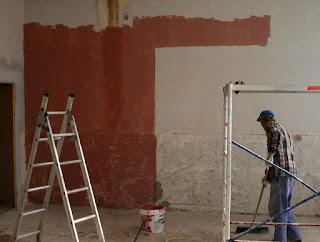 Painting around the door frame gap