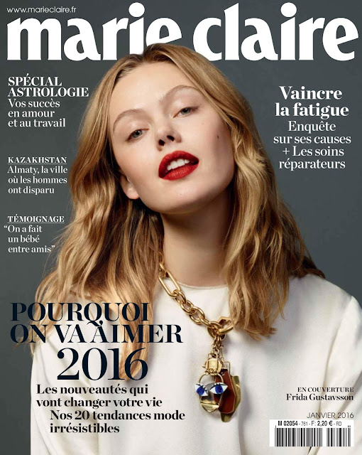 Fashion Model, @ Frida Gustavsson for Marie Claire France, January 2016