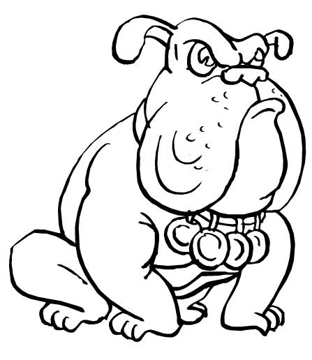 desenho de cachorro bravo para colorir desenhos para colorir
