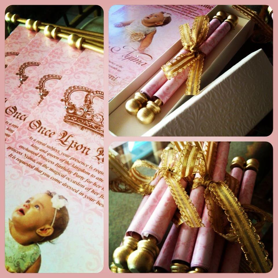 Dainty paperie royal princess scroll invitations it took two people to make sure each end was rolled up tight its hard to do by yourself i was very impressed with the final look and so were my invited solutioingenieria Choice Image