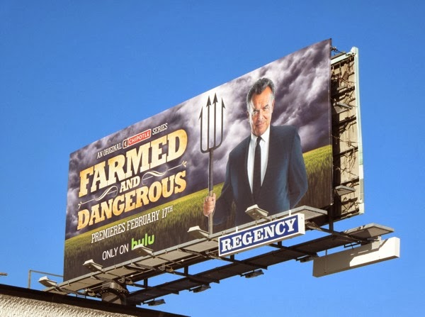 Farmed and Dangerous Chipotle series billboard