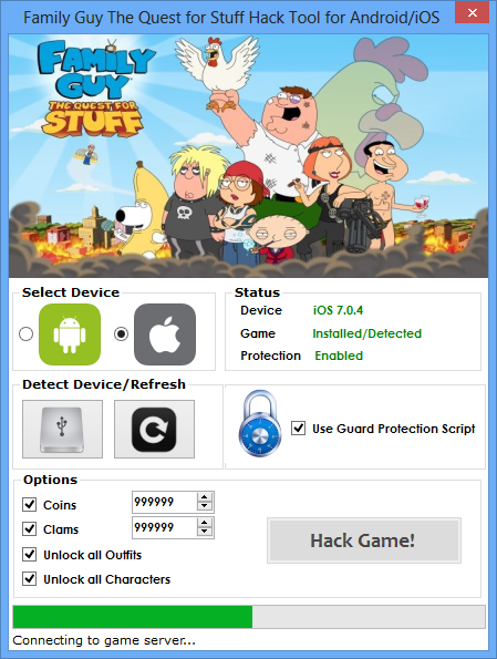 Family Guy The Quest for Stuff Hack Cheats
