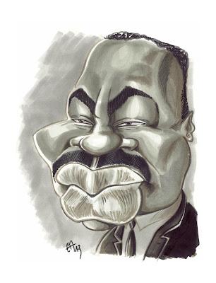 Caricature rapide au Markers de Martin Luther King par Guillaume Néel